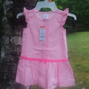 Gymboree NWT pink dotted dress